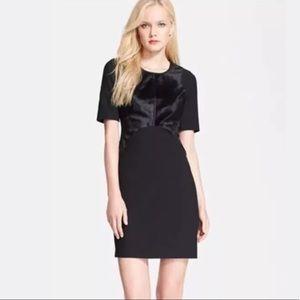 Diane Von Furstenberg Calf Hair Bodice Dress